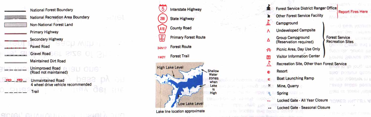 Shasta Lake Maps ShastaLakecom - Us forest service road maps