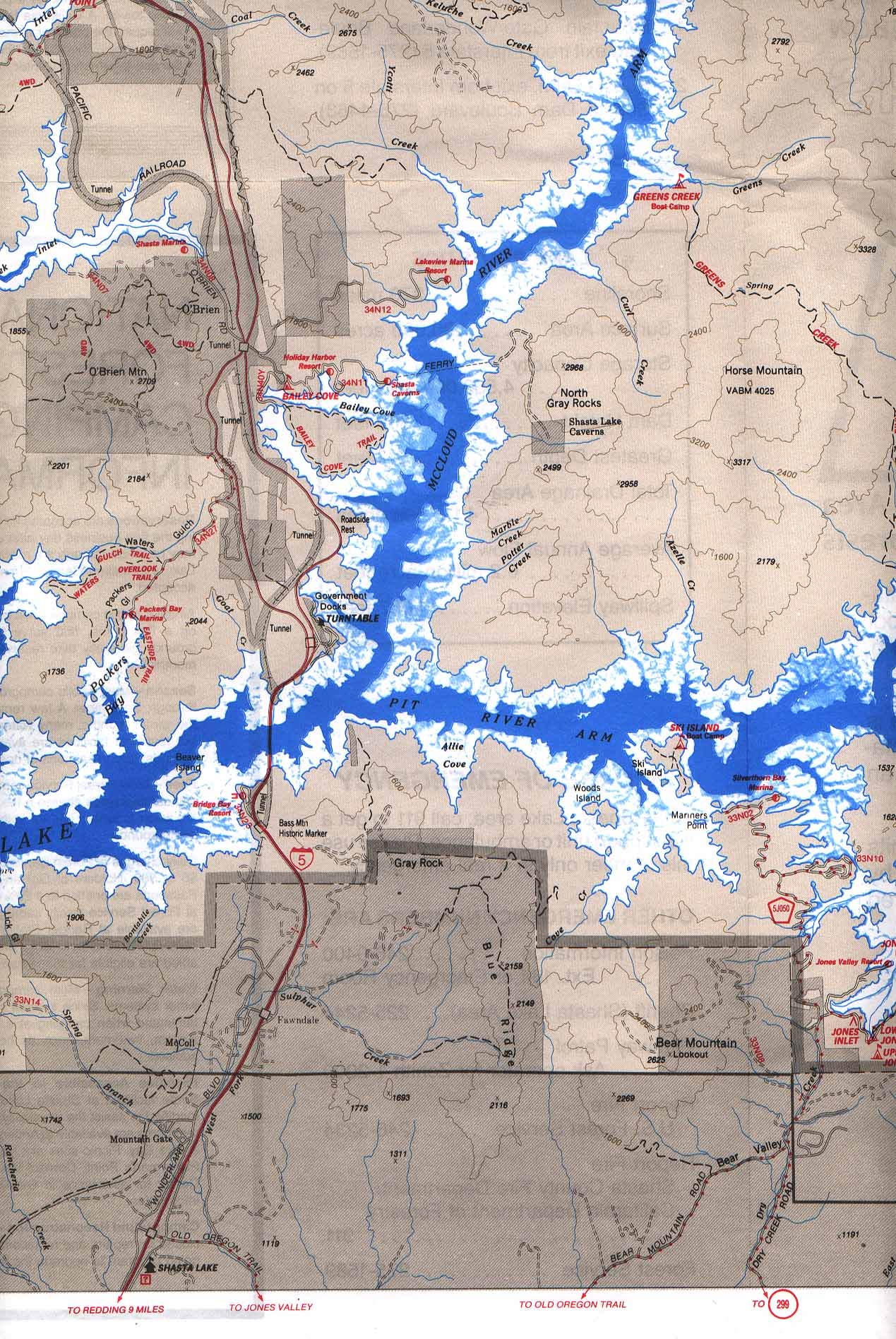 Map of McCloud River and Pit River