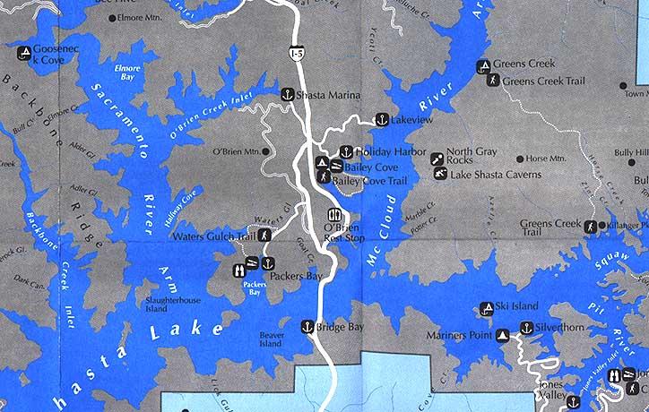 lake shasta fishing map Shasta Lake Maps Shastalake Com lake shasta fishing map